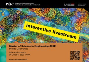 Information Event Master of Science in Engineering (MSE), Profile Geomatics