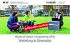 Infoveranstaltung MSE, Vertiefung Geomatics