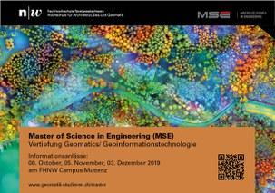 Informationanlass Master of Science in Engineering (MSE), Vertiefung Geomatics