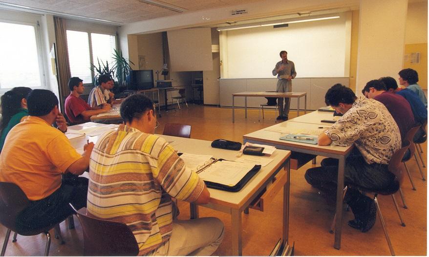 Unterricht am NDSE in der Hofackerstrasse 73, ca. 1995