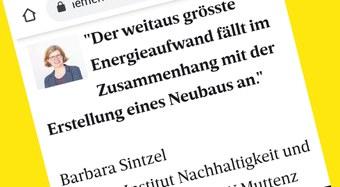 «In Zukunft zirkulär» – Interview mit Prof. Barbara Sintzel