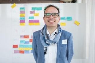 Manfred Huber stellt seine Ideen vor