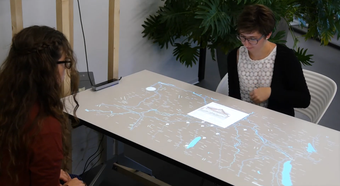 LIVE PAPER: Research on Interactive Tabletop Projection