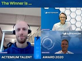 FHNW-Absolvent gewinnt Actemium Talent Award 2020
