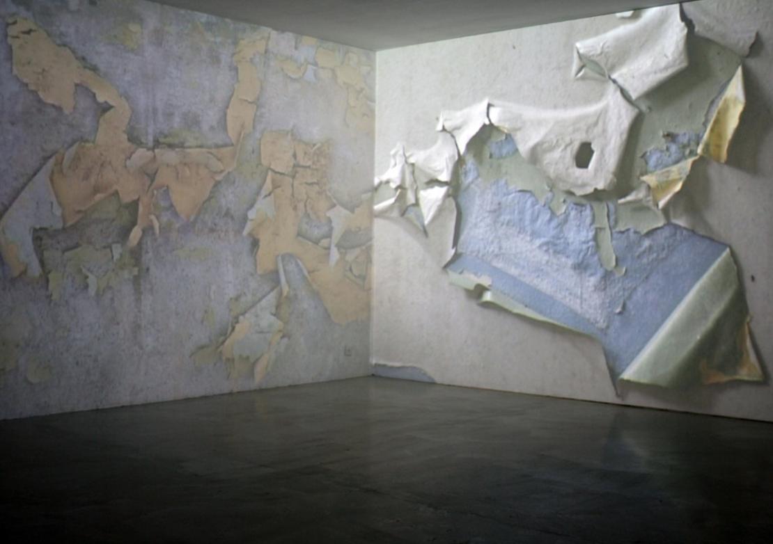 Tapeten, Videoprojektion. Galerie Artrepco Zürich, 2009.