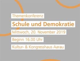 Themenkonferenz 2019 «Schule und Demokratie»