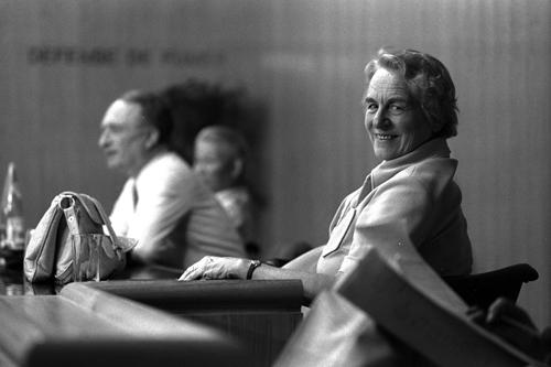 Bärbel Inhelder, 1976, fotografiert von Alain Perruchoud mit Genehmigung des Archives Jean Piaget