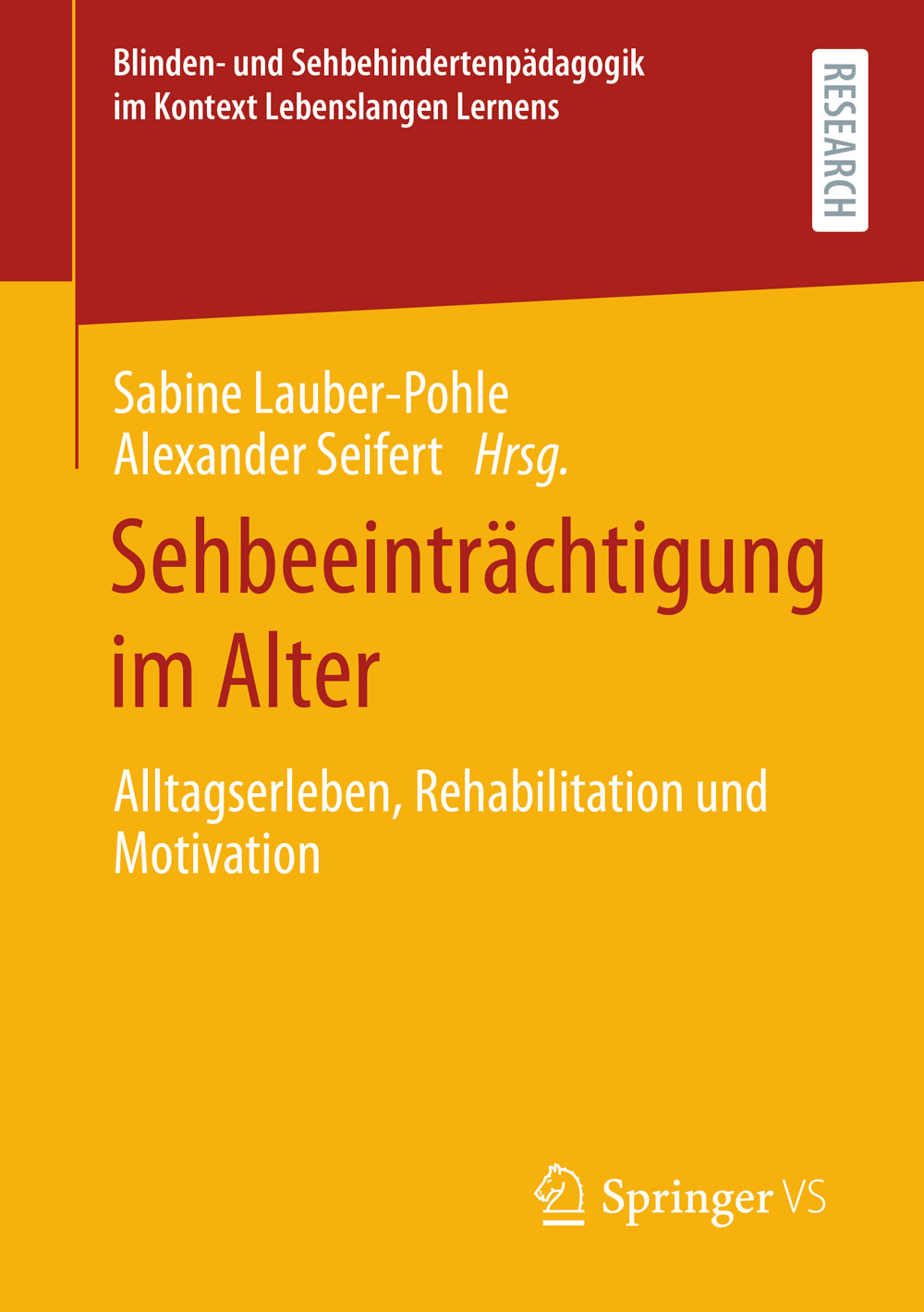 """Buchcover """"Sehbeeinträchtigung im Alter"""""""