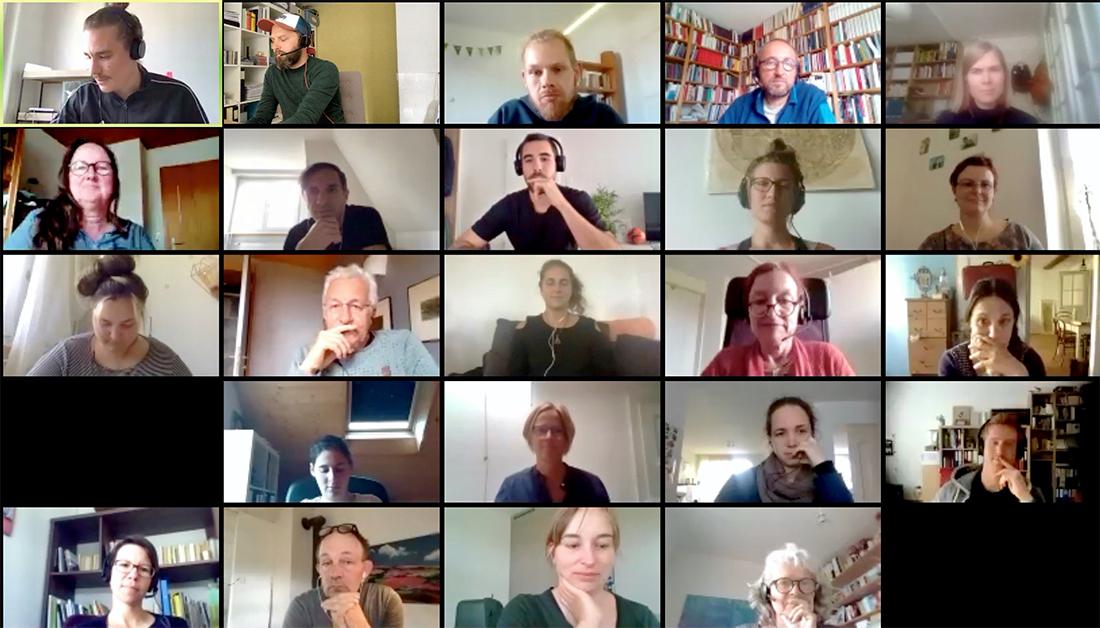 Videokonferenz mit Dozierenden und Studierenden
