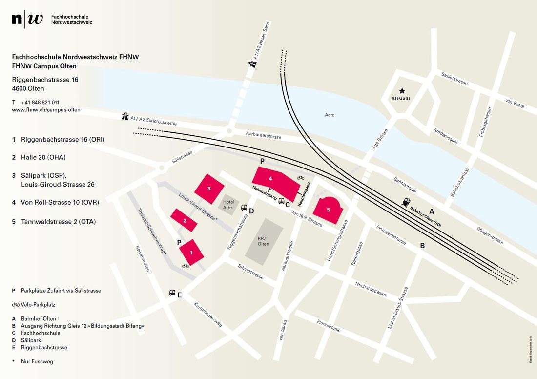 Lageplan Campus Olten