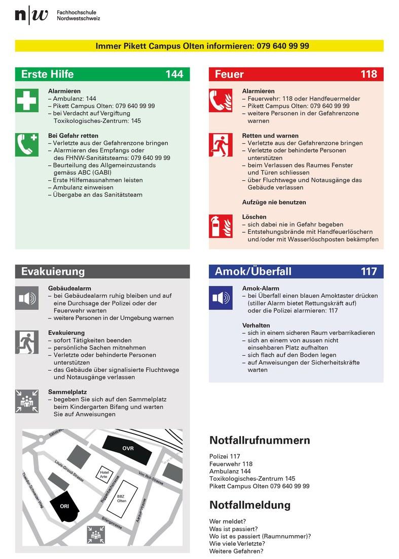 Notfallorganisation Campus Olten