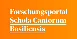 Das Forschungsportal der Schola Cantorum Basiliensis ist aufgeschaltet!