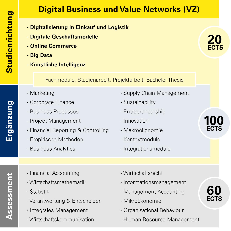 Modulübersicht Digital Business und Value Networks Vollzeit