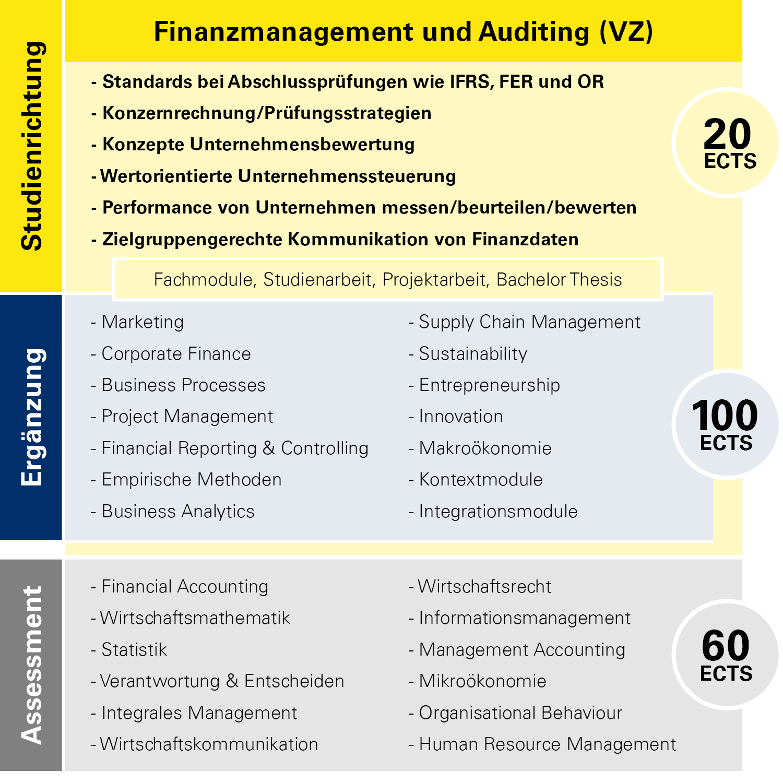 Modulübersicht Finanzmanagement und Auditing Vollzeit