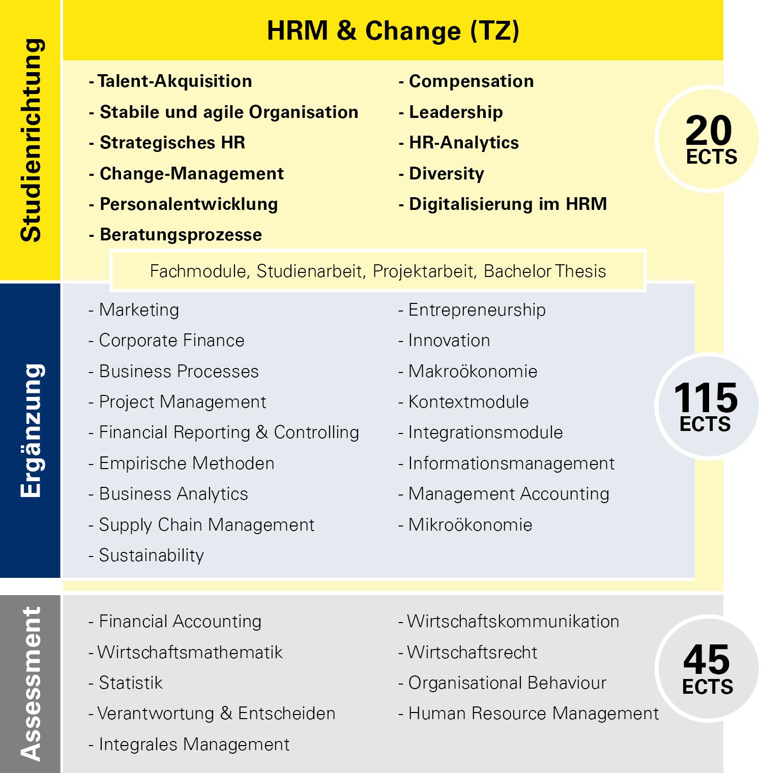 Modulübersicht HRM & Change Teilzeit
