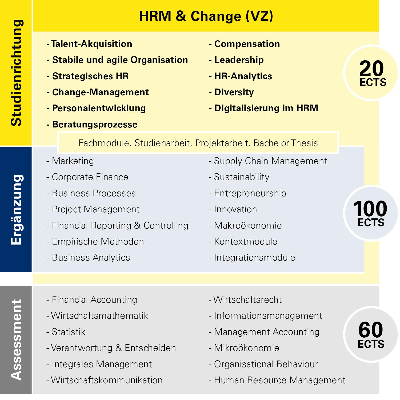 Modulübersicht HRM & Change Vollzeit