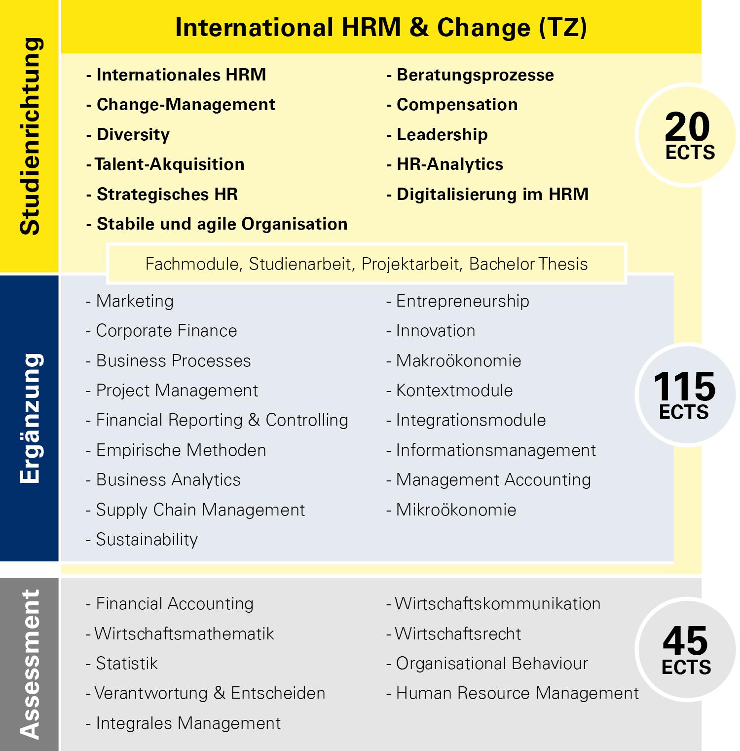 Modulübersicht International HRM & Change Teilzeit