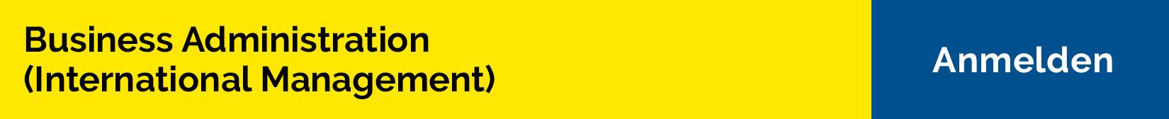 Bachelorstudium Business Administration (International Management)