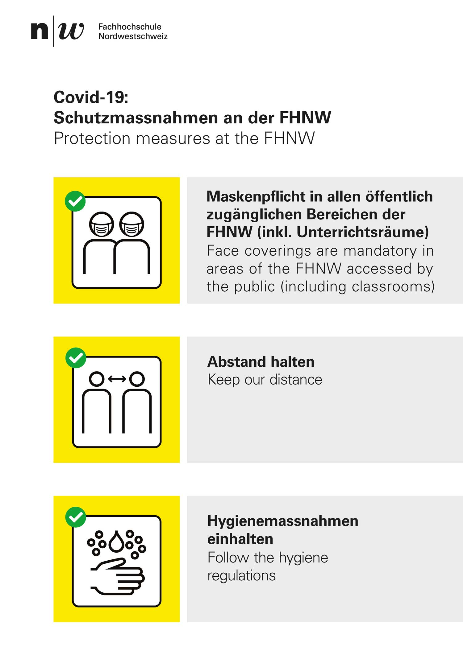 Plakat Schutzkonzept FHNW