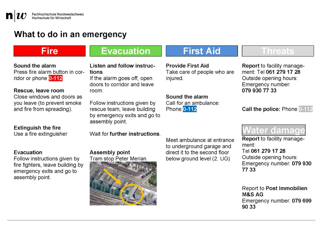 What to do in a emergency
