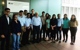 International exchange with IES MCRC Mumbai
