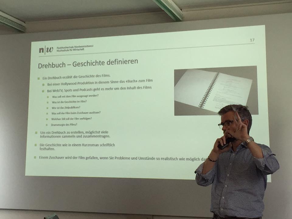 Video Marketing Produktion mit Elmar Eichmann, Canon (Schweiz) AG. CAS Crossmedia Management.